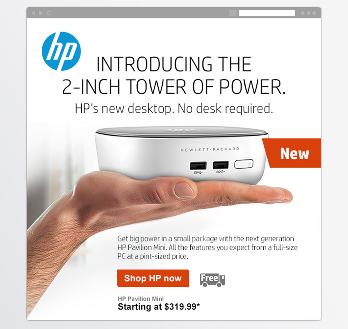 HP<BR>New Product Email-3
