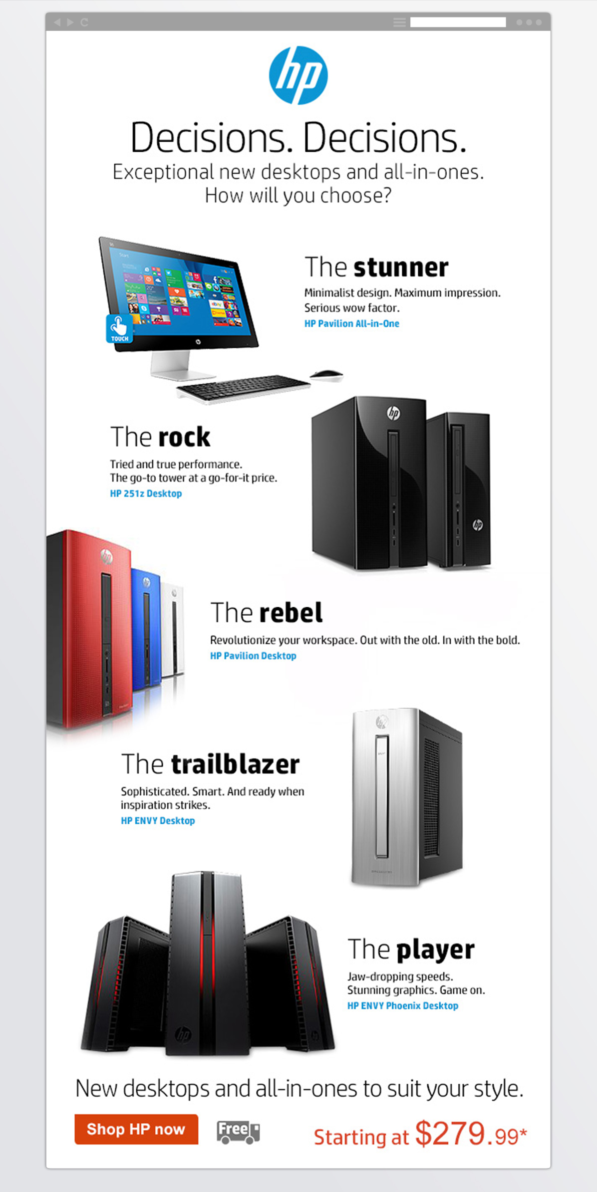 HP<BR>New Product Email-1
