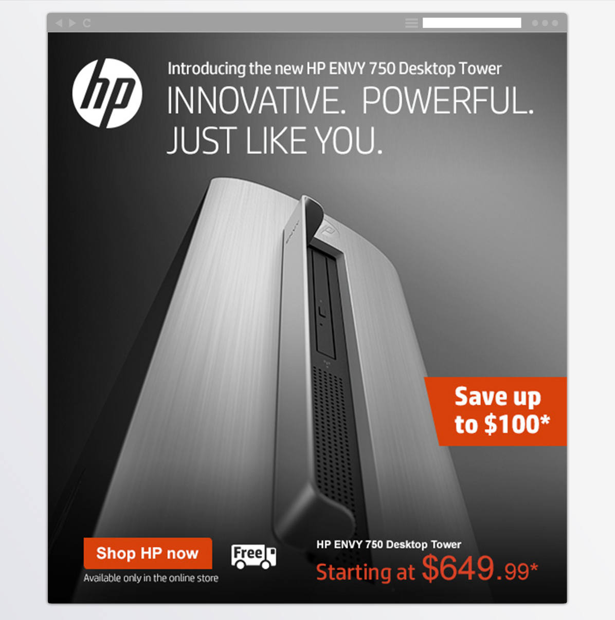 HP<BR>New Product Email-2