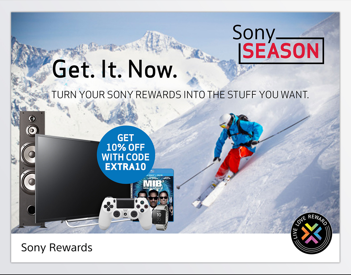 Sony Rewards<br> It's Sony Season-0